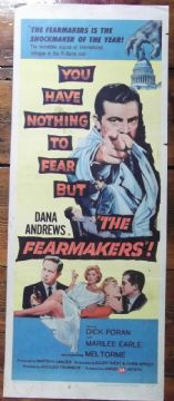 Fearmakers, Insert Movie Poster, Dana Andrews, Marilee Earle, '58